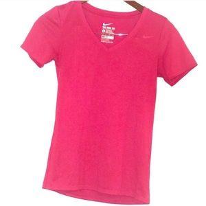 Nike Dri Fit T-Shirt Pink Womens XS Tee